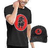 Camiseta de Manga Corta con Cuello Redondo para Hombre Crazy Bujinkan y Sombrero Vaquero, 3XL