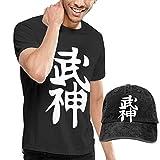 Camiseta de Manga Corta con Cuello Redondo y Sombrero Vaquero Bujinkan para Hombre, 4XL