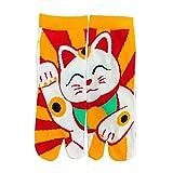 Fancy Pumpkin Kimono estilo japonés sandalia Split Toe Tabi Ninja Geta calcetines Geisha calcetines para hombres, E-24