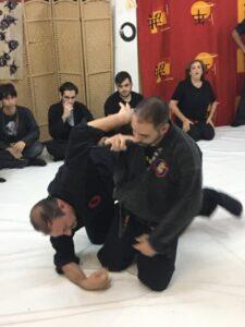 Dai Shihan Carlos A. Pulido ejecutando una tecnica