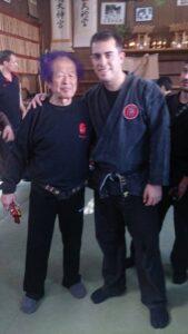 Shihan Rubén Maroto con el Soke Masaaki Hatsumi